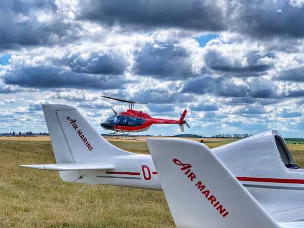 Rundflug-Flugzeug-Helicopter